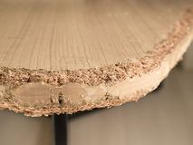 Chewed wooden table Stock Photo