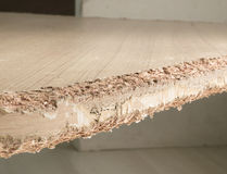 Chewed wooden table Stock Image