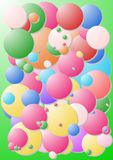 Chewing gum cover. Crazy and incredible bubbles on a green background vector illustration