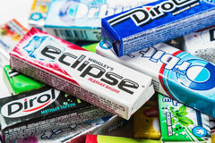 Chewing-gum de diverse marque Photos stock