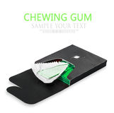 Chewing gum deployed in standard green packaging Stock Photos