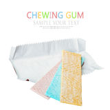 Chewing gum different flavors isolated Royalty Free Stock Photography