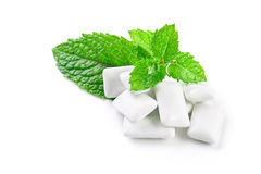 Chewing-gum et menthe photo stock