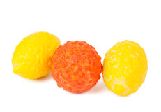 Chewing gum in the form of fruit Royalty Free Stock Images