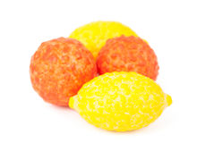 Chewing gum in the form of fruit Stock Images