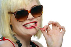 Chewing gum fun Royalty Free Stock Photo