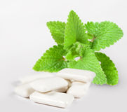Chewing gum with mint Royalty Free Stock Images