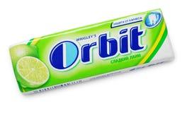 Chewing gum Orbit lime Stock Photos