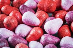 Chewing gum red and lilac shades stock photo