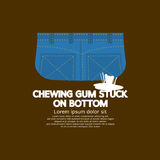 Chewing Gum Stuck On Bottom Royalty Free Stock Images