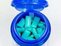 Chewing-gum verts Image libre de droits