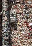 Chewing gum wall in Verona Royalty Free Stock Photos