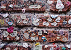 Chewing gum wall Royalty Free Stock Photo