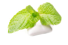 Chewing gums with green mint Stock Photo