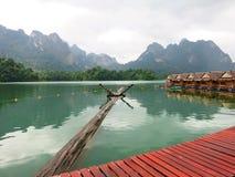 Chewlarn (Ratchaprabha fördämning) i Suratthani, Thailand Fotografering för Bildbyråer