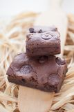 Chewy Fudge Homemade Brownies Stock Images