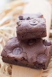 Chewy Fudge Homemade Brownies Royalty Free Stock Images