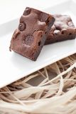 Chewy Fudgy Homemade Brownies Royalty Free Stock Image