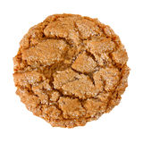 Chewy Ginger Cookie. Stack of chewy ginger cookie over white royalty free stock image