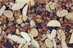 Chewy Granola Bar Bottom Close View Royalty Free Stock Photo