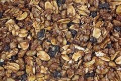 Chewy Granola baru wierzchołka zakończenia widok Zdjęcia Royalty Free