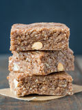 Chewy muesli granola bars Stock Photography