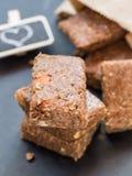 Chewy muesli granola bars Royalty Free Stock Photos