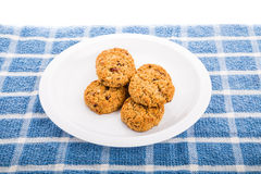 Chewy Oatmeal Raisin Cookies Royalty Free Stock Photo