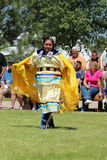 Cheyenne Frontier Days 2013. A Native American dancer during the powwow in Indian Village, Cheyenne Frontier Days, 2013 stock image