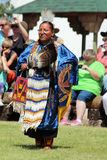 Cheyenne Frontier Days 2013. A Native American dancer during the powwow in Indian Village, Cheyenne Frontier Days, 2013 royalty free stock images