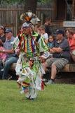 Cheyenne Frontier Days Powwow. A Native American dancer at the Cheyenne Frontier Days Powwow and Indian village in Cheyenne, Wyoming Royalty Free Stock Photos