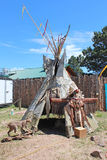 Cheyenne Frontier Days Tipi. A tipi outside of Indian Village at Cheyenne Frontier Days in Cheyenne, Wyoming royalty free stock photos