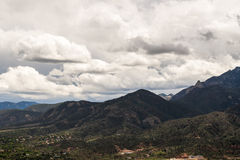Cheyenne Mountain Range in Colorado stock photography