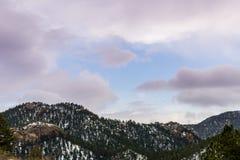 Cheyenne Mountain Sunrise Sunset Colorado-Frühlinge Lizenzfreie Stockfotos