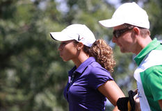 Cheyenne Woods at golf Evian Masters 2012 Royalty Free Stock Photo