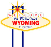 cheyenne wyoming vektor illustrationer