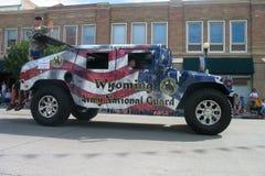 Cheyenne, Wyoming, de V.S. - 26-27 Juli, 2010: Parade in Cheye van de binnenstad Stock Foto's