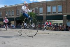 Cheyenne, Wyoming, de V.S. - 26-27 Juli, 2010: Parade in Cheye van de binnenstad Stock Fotografie
