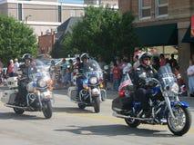 Cheyenne, Wyoming, EUA - 27 de julho de 2010: Desfile em Cheyenne do centro, Wyoming, durante os dias da fronteira anuais Imagens de Stock