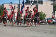 Cheyenne, Wyoming, EUA - os 26-27 de julho de 2010: Parada em Cheye do centro Fotografia de Stock