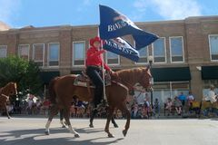 Cheyenne, Wyoming, los E.E.U.U. - 26-27 de julio de 2010: Desfile en Cheye céntrico Fotos de archivo libres de regalías