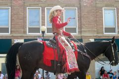 Cheyenne, Wyoming, los E.E.U.U. - 26-27 de julio de 2010: Desfile en Cheye céntrico Fotografía de archivo libre de regalías