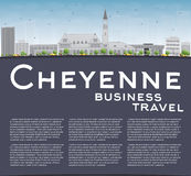 Cheyenne (Wyoming) Skyline with Grey Buildings and Blue Sky Royalty Free Stock Photos