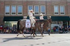 Cheyenne, Wyoming, U.S.A. - 26-27 luglio 2010: Parata in Cheye del centro Immagini Stock