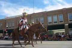 Cheyenne Wyoming, USA - Juli 26-27, 2010: Ståta i i stadens centrum Cheye royaltyfri fotografi