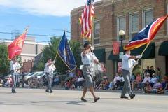 Cheyenne Wyoming, USA - Juli 26-27, 2010: Ståta i i stadens centrum Cheye Arkivbilder