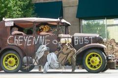 Cheyenne Wyoming, USA - Juli 26-27, 2010: Ståta i i stadens centrum Cheye Royaltyfria Bilder