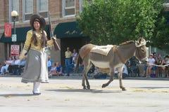 Cheyenne Wyoming, USA - Juli 26-27, 2010: Ståta i i stadens centrum Cheye royaltyfri bild