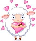 Chez des moutons d'amour illustration libre de droits