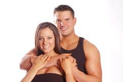 Chez l'homme et la femme d'amour Photo stock